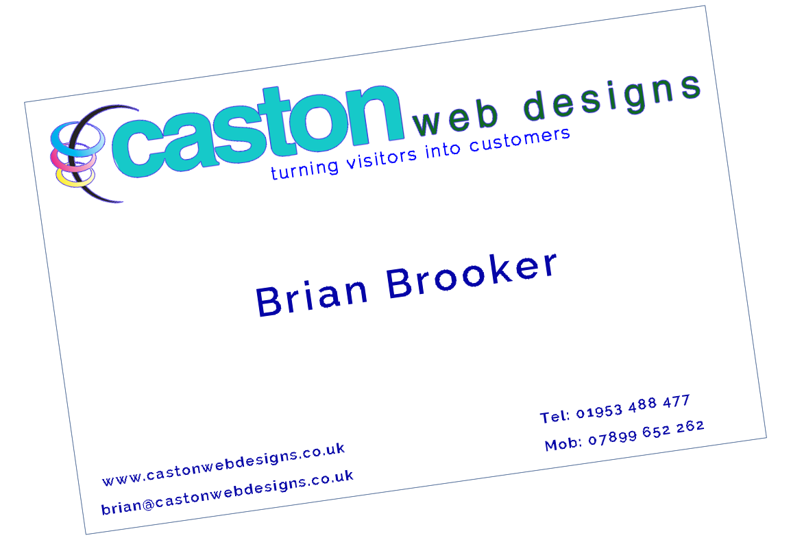 Caston Web Designs Business Card