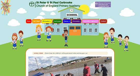 Web Design for Carbrooke School
