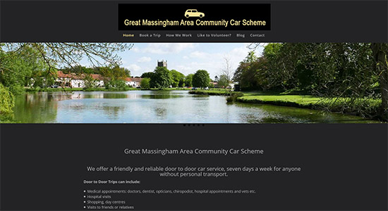 Gt Massingham Community Cars - Caston Web Designs Portfolio