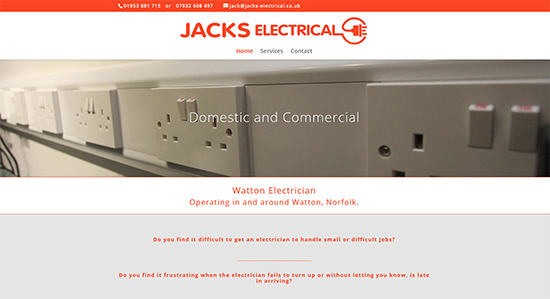 Jacks Electrical - Caston Web Designs Portfolio
