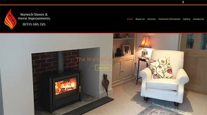 Web Design for Norwich Stoves