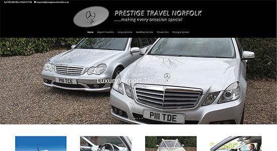 Prestige Travel - Airport Taxi Service - CWD Portfolio