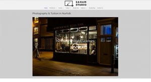 Web Design for Saham Studio