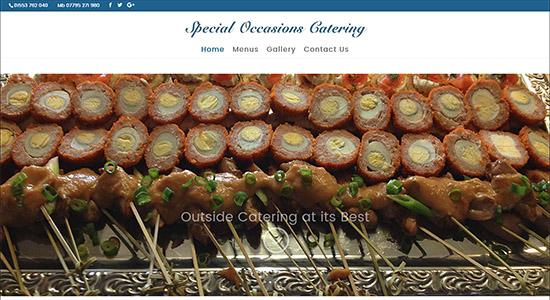 Special Occasions Catering - CWD Portfolio