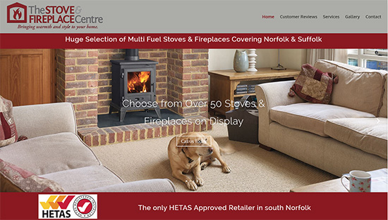 Stove & Fireplace Centre - Caston Web Designs Portfolio