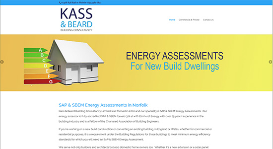 Kass and Beard - Caston Web Designs Portfolio