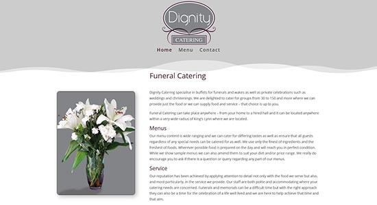 Dignity Catering - Caston Web Designs Portfolio