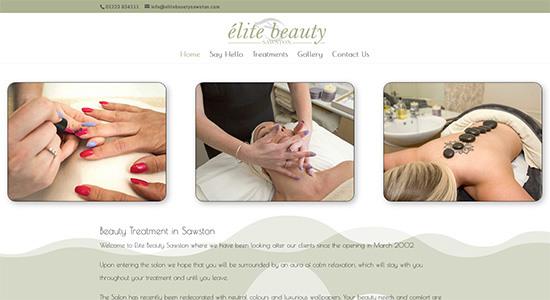 Elite Beauty Sawston - Caston Web Designs Portfolio
