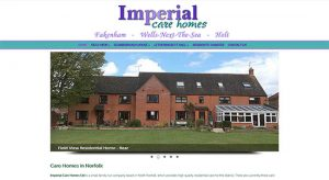 Caston Web Designs - Imperial Care Homes front page