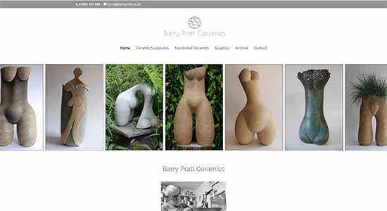 Barry Pratt Ceramics - Caston Web Designs Portfolio