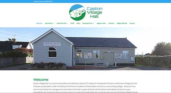 Caston Village Hall - Caston Web Designs Portfolio
