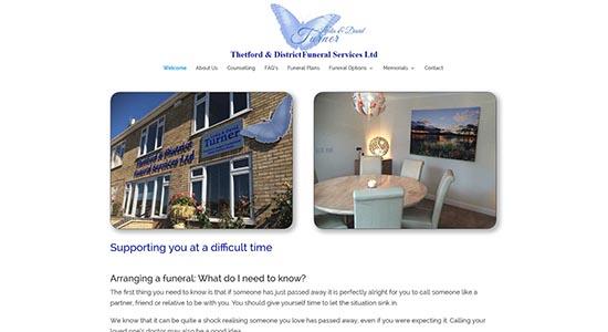 Thetford Funeral Service - CWD-Portfolio