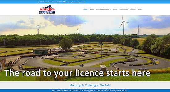 Anglia Training - Caston Web Designs Portfolio