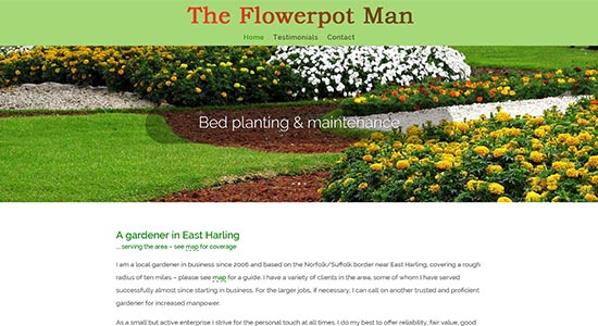 Flowerpot Man - Caston Web Designs Portfolio