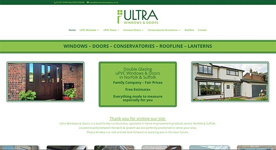 Ultra Windows & Doors - Caston Web Designs Portfolio