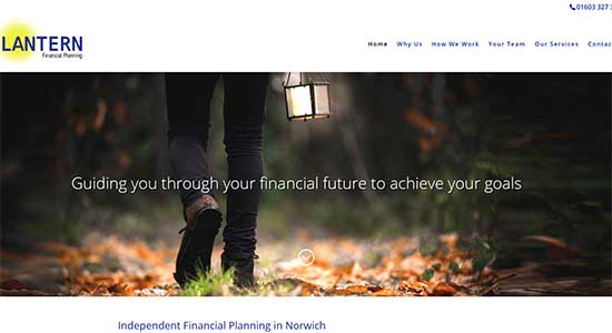 Lantern Financial Planning - Caston Web Designs Portfolio