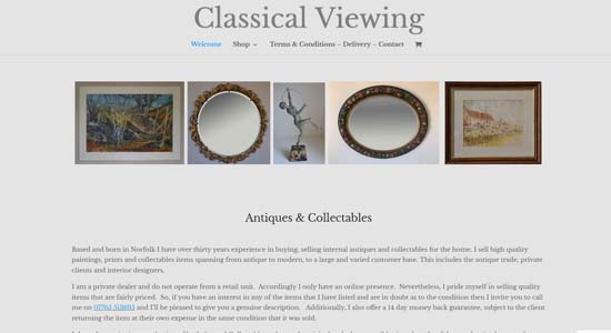 CHome Page of Classical Viewing Web Site